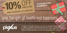 GREAT time to try Plexus!!!  Also makes a great Christmas gifts for those special people in your life!!!