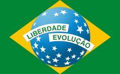 Variação de estudo para desenvolvimento da bandeira do Brasil