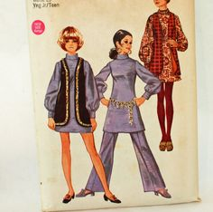 Vintage 1960s Sewing Pattern Simplicity 8556 by Old2NewMemories