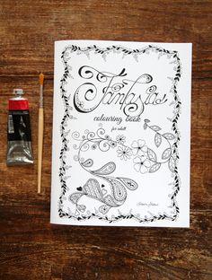 Il mio primo coloring book!! Un'esplosione di fiori, cuori e riccioli!!!!