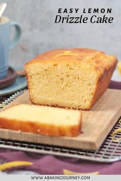 If you are looking for a delicious and super easy Lemon Cake made from scratch, this recipe is for you! The homemade moist lemon loaf cake is topped with a low-sugar icing that brings your the pop of lemon you crave, without the excess of sugar! This super easy cake recipe is perfect to enjoy with your afternoon tea or for a breakfast on the go. Serve it to a party or bring it to a picnic; the possibilities are endless! #lemoncake #lemonloaf #lemondrizzlecake #lemonicing #easylemoncake… Lemon Desserts, Lemon Recipes, Easy Cake Recipes, Healthy Dessert Recipes, Sweet Recipes, Snack Recipes, Tea Recipes, Healthy Lemon Cake Recipe, Snacks