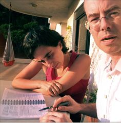 Diala and Daron hard editing Le Projet Socrate in sunny Beirut...