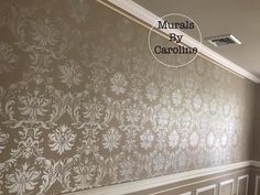Gorgeous Dining Room Hand painted Stencil