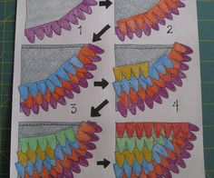 Lay out your wing bases and begin by playing around with placing and layering your feathers. Do this without pinning the feathers down so that you hav...