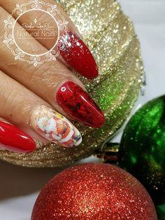 Natural Nails, Christmas Nails, Xmas Nail Art, Xmas Nails, Natural Looking Nails, Natural Color Nails
