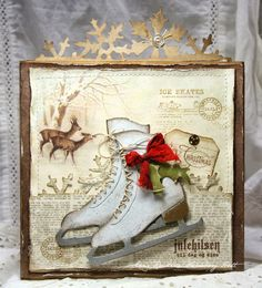 Anne's paper fun: Christmas Card with Ice Skates