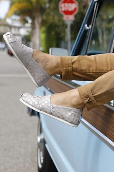 167accf4049 Drizzle Grey with Rose Gold Foil Polka Dot Women s Classics
