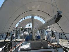More shade will make your boat 10-15 degrees cooler.  When you're in the tropics, or even sub-tropics, the difference can be amazing!  Here are our criteria and solution for shade, as well as a FAQ about our choice.  commuterCRUISER.com