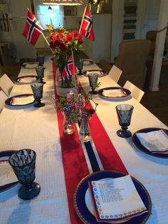 Fest, Norway, Table Decorations, American, Home Decor, Homemade Home Decor, Decoration Home, Dinner Table Decorations, Interior Decorating