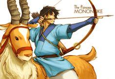 """東の国より来たり by まこと - Ashitaka from Miyazaki's """"Princess Mononoke"""""""