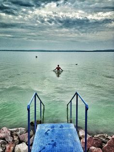 Swimming in Lake Balaton, Hungary. Beautiful place in central Europe for a summer vacation Maldives Vacation, Cruise Vacation, Water Facts, Hungary Travel, Best Cruise, Natural Scenery, Central Europe, Budapest Hungary, Strand