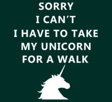 Sorry I can't, I have to take my unicorn for a walk...SORRY