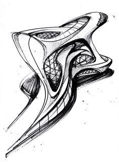 sketch of oscar niemeyer; Architecture Concept Drawings, Architecture Sketchbook, Chinese Architecture, Futuristic Architecture, Architecture Design, Retro Futuristic, Architecture Office, Classical Architecture, Sustainable Architecture