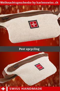 Original Postsäcke zu upcycling Taschen verarbeitet. Switzerland, Poster, Upcycled Crafts, Taschen, Posters