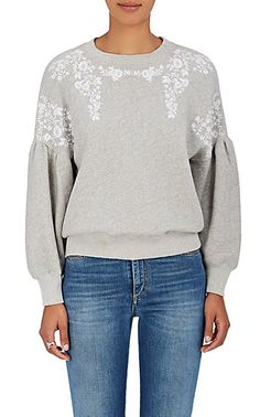 We Adore: The Judith Embroidered Cotton Sweatshirt from Ulla Johnson at Barneys New York