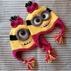 Custom Crochet Despicable Me Minion Hat with Earflaps by NKCreates, $30.00