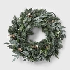 Fantastic Photographs Eucalyptus Wreath target Suggestions This specific DIY eucalyptus wreath is an ideal foundation wreath for virtually any year or so or ev Christmas Tree Ribbon Garland, Holiday Wreaths, Christmas Decorations, Winter Wreaths, Holiday Crafts, Holiday Fun, Halloween Decorations, Pre Lit Wreath, Lighted Wreaths