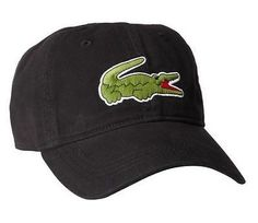 Hats 52365: New Lacoste Mens Cotton Gabardine Hat Baseball Cap With Large Crocodile Black -> BUY IT NOW ONLY: $32.99 on eBay!