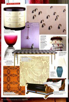 Polished Nickel, Town House, October 2013, Bedroom, Table, Country, Carrara, Furniture, Herringbone