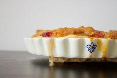 vegan apricot and peach crumble pie