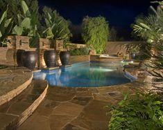 interessante-poolgestaltung-im-garten-gartengestaltung | mini-pool, Gartenarbeit ideen