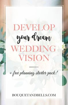 Congrats! You're engaged...but now what? Develop your dream wedding vision + FREE planning starter pack! www.bouquetandbells.com Free Wedding, Plan Your Wedding, Wedding Planning, Budget Wedding, Wedding Tips, Perfect Wedding, Diy Wedding, Personalized Wedding, Dreaming Of You
