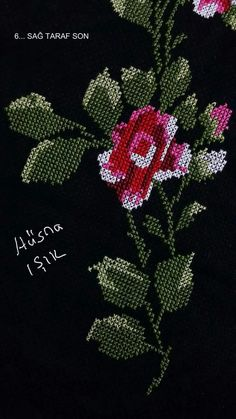 This Pin was discovered by Büş Cross Stitch Rose, Cross Stitch Charts, Cross Stitch Designs, Cross Stitch Patterns, Hand Embroidery Stitches, Cross Stitch Embroidery, Embroidery Patterns, Free To Use Images, Beaded Flowers