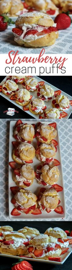 An easy summertime dessert recipe - these strawberry cream puffs are light, cool, fresh and creamy, oh and absolutely delicious! An easy strawberry dessert recipe anyone can make!