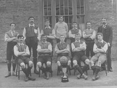 This is the trophy winning Yeovil Casuals Football Team, 1904-05.
