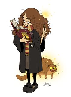 HOLD ON. HERMIONE'S READING THE GRAVITY FALLS BOOK. I'm a fan of both and this is like, WHAT?!
