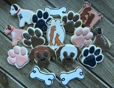 Decorated Cookies Dog doggie www.ylcustomcookies.com