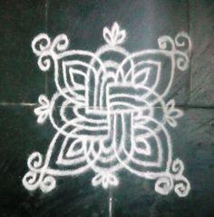 SIMPLE, EASY & BEAUTIFUL PADI KOLAM WITH SWASTHIK Indian Rangoli Designs, Beautiful Rangoli Designs, Padi Kolam, Kolam Rangoli, Latest Rangoli, Zentangle, Neon Signs, Boarders, Drawings