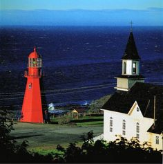 'Named after nearby Marten River, La Martre Lighthouse is considered by some to be the crown jewel of the Gaspé lighthouses. It is the only non-automated light in Quebec. Beautiful Buildings, Beautiful Places, La Martre, Places Around The World, Around The Worlds, Lighting Automation, Grands Lacs, Voyager Loin, Atlantic Canada