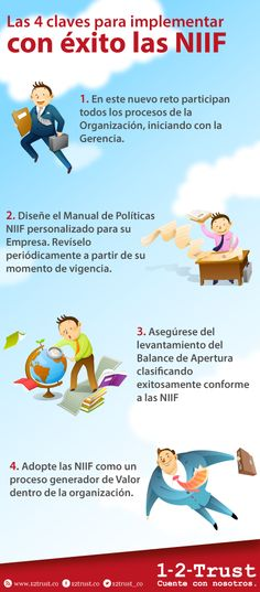 Las 4 claves para implementar con éxito las NIIF Digital Marketing, World, Accounting, Finance, Financial Statement, Journaling, Diary Book, Country, Tips