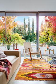 6 combinaciones de colores que funcionan en otoño #hogarhabitissimo #kilim