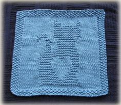 Kitty Love Washcloth pattern by Cheryl Lacey