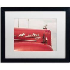 Trademark Fine Art Mack Truck 2 inch Canvas Art by Jason Shaffer, White Matte, Black Frame, Size: 16 x 20, Assorted