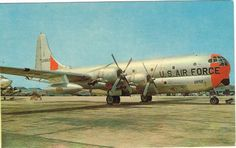 Vintage-Postcard-KC-97-USAF-Air-Force-Refueling-Tanker-Plane-McGuire-AFB-NJ