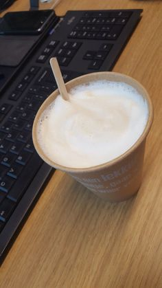 180219 Very tasty latte macchiato at work for only €1,35