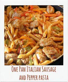 Jenn's Random Scraps: One Pan Italian Sausage and Pepper Pasta