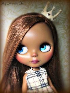 Clarisse OOAK Ethnic Custom Blythe Art Doll by MyDeliciousBliss, $825.00