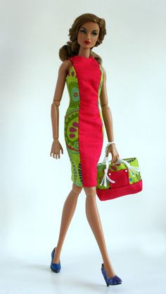 Summer dress and beach bag for Color Infusion by ChicBarbieDesigns