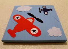 toddler airplane bedding | Wall Decor Airplane Baby Nursery Kids Children Room Decor