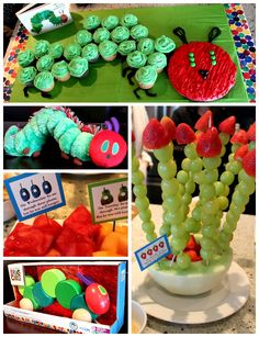 Lots of Very Hungry Caterpillar party ideas (great for birthday, baby shower, etc!)