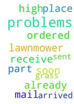 Jesus please don't let me have more problems with my - Jesus please dont let me have more problems with my mail. I ordered a part for the lawnmower because our grass is so high and it is being sent all over the place and should have arrived already. Please let me receive it soon. Thank you, Amen. Posted at: https://prayerrequest.com/t/CkR #pray #prayer #request #prayerrequest