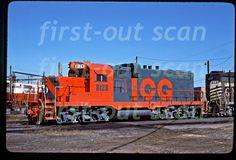 illinois central gulf | Original Slide Illinois Central Gulf ICG 8128 EMD GP 10 at Memphis TN ...
