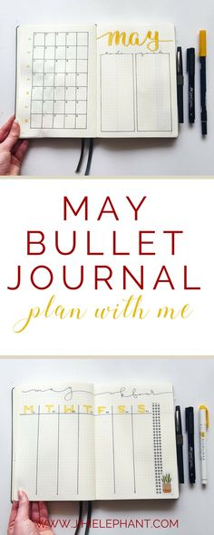 It's May! That means that I get to share with you my May bullet journal layout and walk you through my inspirations and the process of my creating it. This month's theme was yellow and houseplants. Without further ado, here is my May bullet journal plan-with-me.