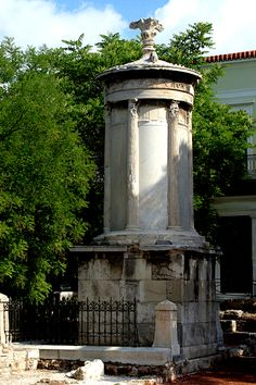 """Monument of Lysicrates , Athens - """"The mountains look on Marathon-- And Marathon looks on the sea; And musing there an hour alone, I dream'd that Greece might yet be free For, standing on the Persians' grave, I could not deem myself a slave.""""              Lord Byron, The Isles of Greece (Don Juan, Canto LXXXVI)"""