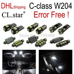 49.99$  Know more - http://aieop.worlditems.win/all/product.php?id=32323316994 - DHL shipping 18pc X100% Error free LED Interior Light Kit For Mercedes For Mercedes-Benz C class W204 C250 C300 C350 (2008+)