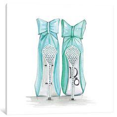 Tiffany shoe artBride to be Shoe wall art Fashion art Arte Fashion, Fashion Wall Art, Fashion Prints, Fashion Fashion, High Fashion, Canvas Artwork, Canvas Art Prints, Painting Prints, Paintings